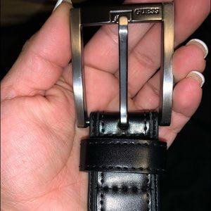 Men's black guess belt
